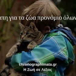 Η αγάπη για τα ζώα προνόμιο όλων μας
